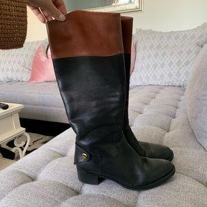 Franco Sarto Leather saddle boots size 8
